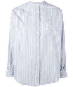 Aspesi | Band Collar Striped Shirt