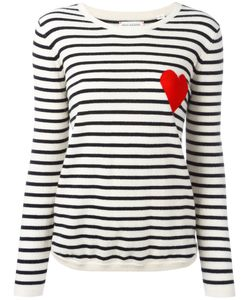 Chinti And Parker | Breton Stripe Heart Jumper Medium