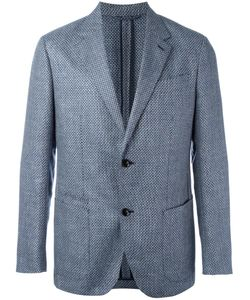 Ermenegildo Zegna | Checked Blazer 52 Silk/Linen/Flax/Cupro/Wool