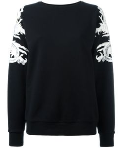 MARCELO BURLON COUNTY OF MILAN | Lace Appliqué Sweatshirt Size Small