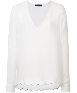 Jenni Kayne | Scalloped Detail Blouse Medium Silk