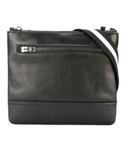 Bally | Striped Strap Messenger Bag Calf Leather/Cotton