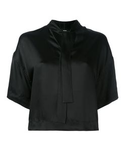 Diesel   Cropped Neck-Tie Blouse Small Viscose