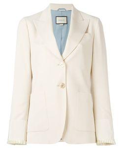 Gucci   Two Button Blazer 40 Wool/Silk/Spandex/Elastane/Viscose