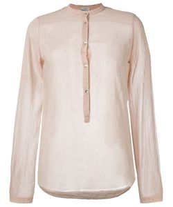 Forte Forte | Band Collar Blouse 2 Silk/Cotton
