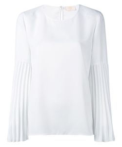 Sara Battaglia | Pleated Sleeve Blouse