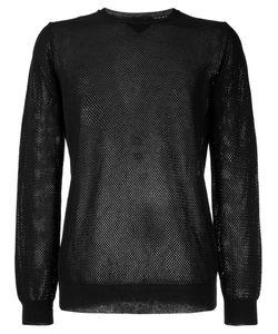 Roberto Collina   Perforated Detail Sweatshirt Size 48