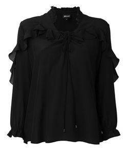 Just Cavalli | Sheer Ruffled Shirt 46 Silk