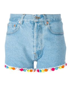 FORTE COUTURE | Pompom Denim Shorts Size 26