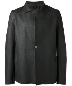 10Sei0Otto | Square-Button Detailed Jacket Medium Leather/Cotton