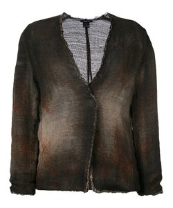 Avant Toi | Cross Body Overdyed Knitted Jacket