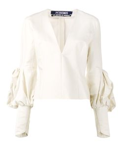 JACQUEMUS | V-Neck Fitted Blouse 34