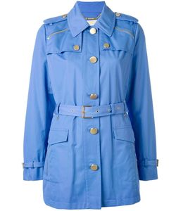 Michael Michael Kors | Belted Military Jacket Xl Cotton/Polyester/Spandex/Elastane