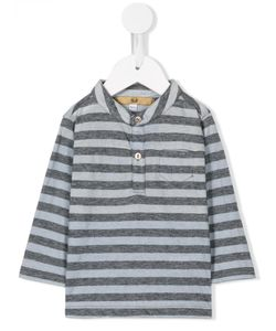 Gold   Striped Henley T-Shirt Infant 9 Mth