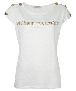 Pierre Balmain | Logo Print Top 42 Cotton