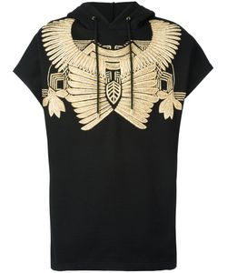 Les Hommes | Golden Embroidery Sleeveless Hoodie Cotton/