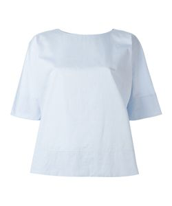 Alberto Biani | Rear Pleat Blouse 44 Cotton