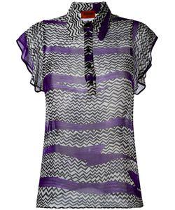 Missoni | Zigzag Print Blouse 42 Silk