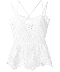 Perseverance London | Lace Peplum Camisole Top 6 Polyester