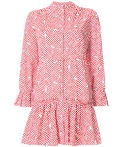 Saloni | Embroidered Shirt Dress