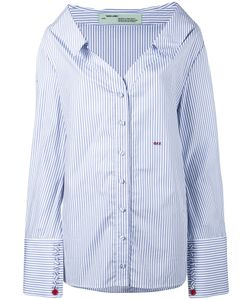 OFF-WHITE | Open Collar Striped Shirt