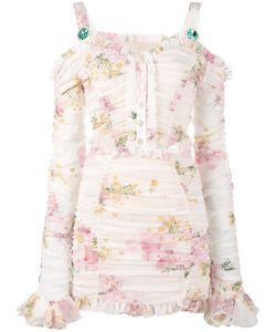 Alessandra Rich | Print Ruched Mini Dress 38