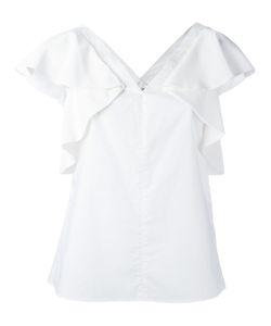 Dorothee Schumacher | Ruffled Sleeves V-Neck Blouse Size 3
