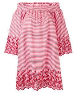 P.A.R.O.S.H.   P.A.R.O.S.H. Striped Off Shoulder Dress