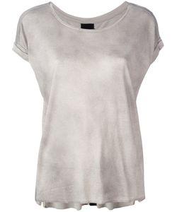THOM KROM | Round Neck T-Shirt Small Linen/Flax/Viscose