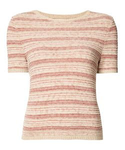 Alice + Olivia | Striped Shortsleeved Knit Top