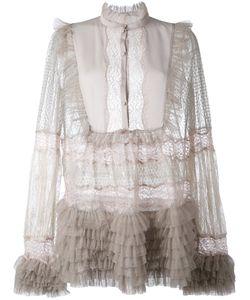 Amen | Прозрачная Блузка С Рюшами