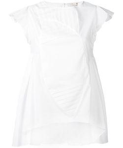 CAPUCCI   Asymmetric Origami Blouse 46 Cotton