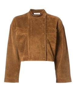 J.W. Anderson | J.W.Anderson Cropped Jacket 10 Viscose/Cupro/Suede/Calf Leather