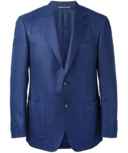 Canali | Patch Pockets Blazer 52 Silk/Linen/Flax/Wool/Cupro