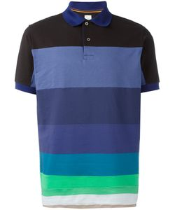 Paul Smith | Horizontal Stripe Polo Shirt Large Cotton