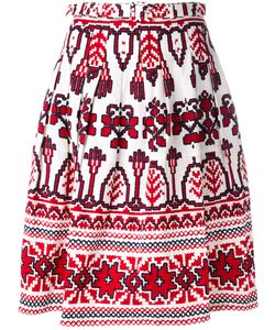Samantha Sung | Flared Printed Skirt
