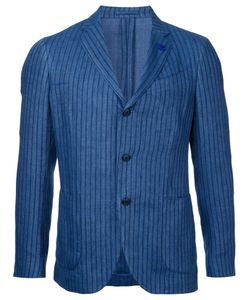 Lardini | Striped Single-Breasted Blazer Size