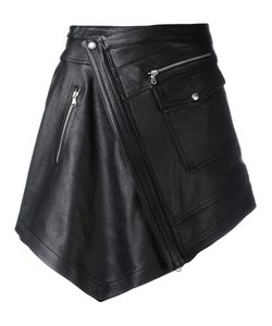 Diesel Black Gold | Asymmetric Wrap Skirt 40 Leather/Viscose