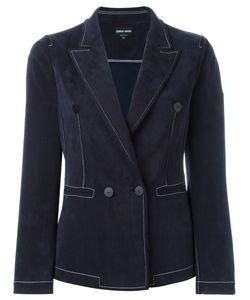Giorgio Armani | Double Breasted Blazer 46 Cupro/Polyester/Spandex/Elastane