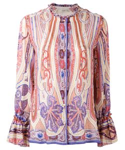 Etro | Printed Collarless Shirt 44