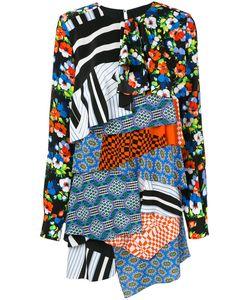 MSGM | Лоскутное Платье С Длинными Рукавами