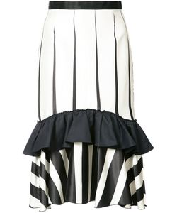 TOME | Striped Frill-Trim Skirt 2