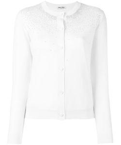 Miu Miu | Sequin Stars Cardigan Size 42 Virgin Wool/Synthetic