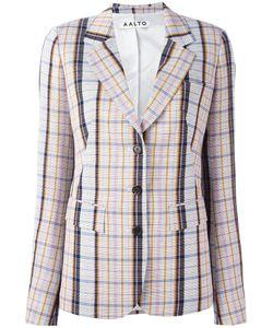 AALTO | Notched Lapel Check Blazer Size 40