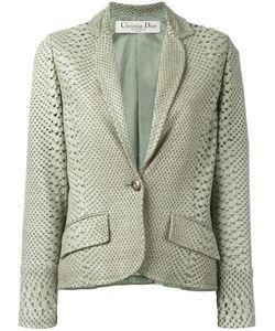 Christian Dior Vintage   Пиджак C Эффектом Змеиной Кожи И Перфорацией