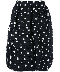 Comme Des Garcons | Comme Des Garçons Polka Dots Draped Skirt