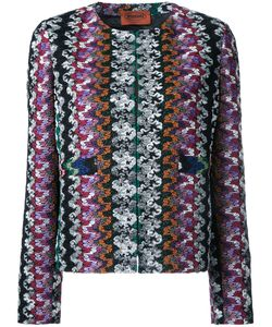 Missoni | Collarless Open Jacket 44 Polyester/Cupro/Viscose