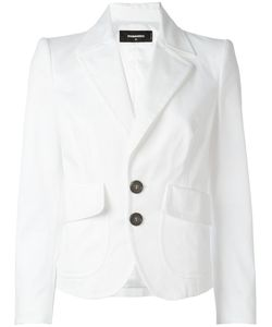 Dsquared2 | Cropped Peaked Lapel Blazer 40 Cotton/Spandex/Elastane/Viscose/Polyester