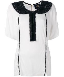 Class Roberto Cavalli | Embellished Collar Blouse