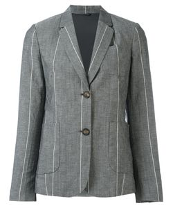 Brunello Cucinelli | Striped Blazer 44 Linen/Flax/Virgin Wool/Cupro/Silk